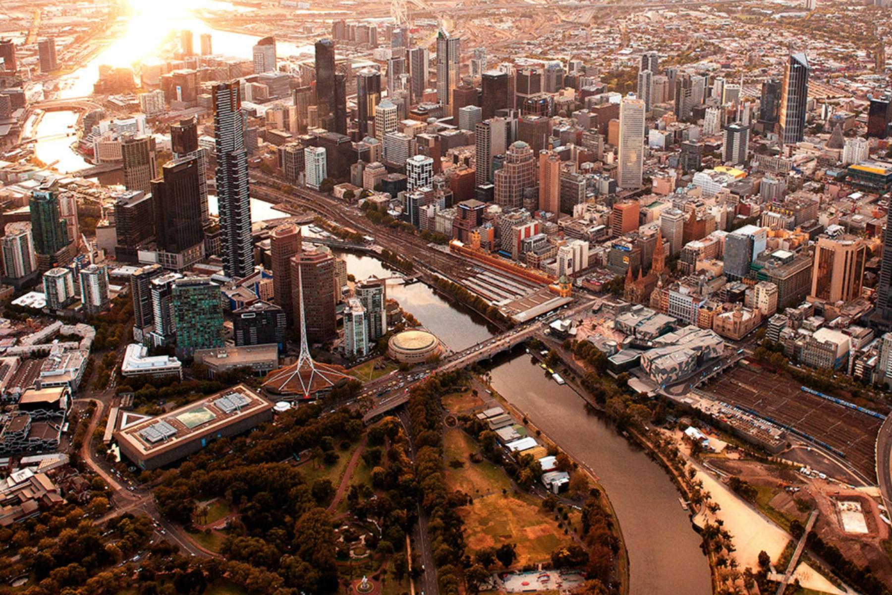 Skyline von Melburne Australien