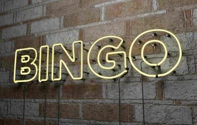 Das Foto zeigt den Schriftzug BINGO